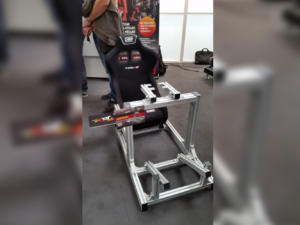 The JCL Seat, the entry-level presented at the Simracing Expo