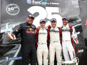 1ère place sur le podium en Fun Cup pour Cédric et son équipe